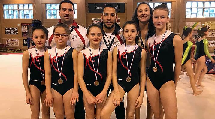 Jeunesse Gymnastique Artisitique Féminine - étendard de la Talaudière