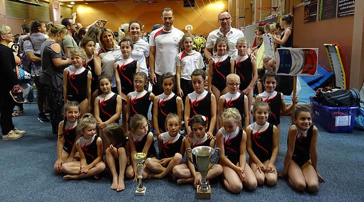 Poussines Gymnastique Artisitique Féminine - étendard de la Talaudière