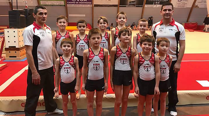 Poussins Gymnastique Artisitique Masculine - étendard de la Talaudière